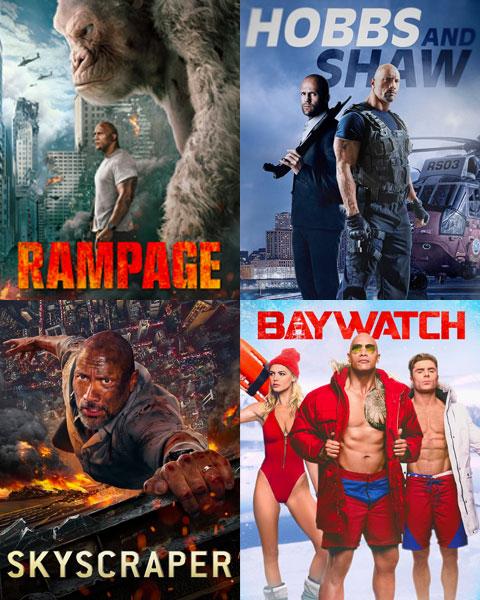 4-Film Dwayne Johnson Bundle (HD) Vudu Redeem