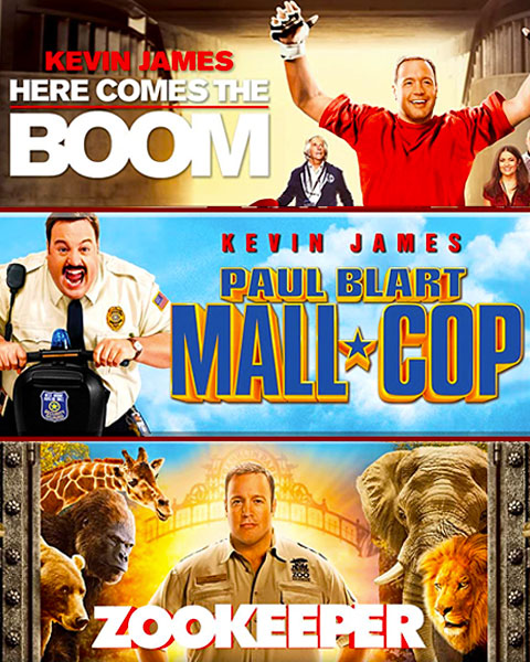Here Comes The Boom / Paul Blart: Mall Cop / Zookeeper (SD) Movies Anywhere Redeem